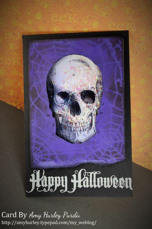 Skull shaker card