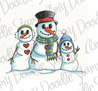 Snow Family colored