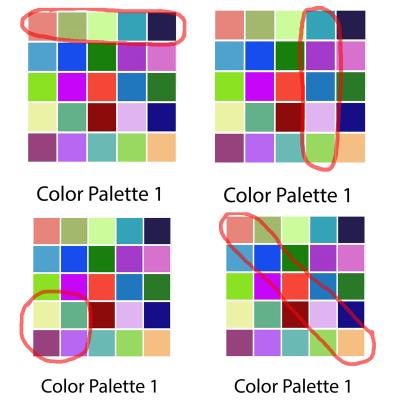 Palette sample