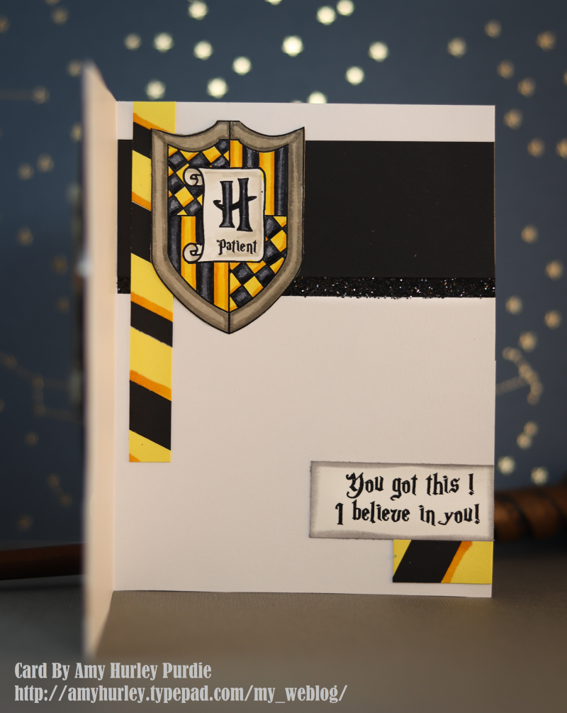 Hufflepuff  inside card watermarked